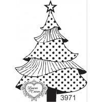 Carimbo Árvore de Natal - 5 x 7 cm- Ref...