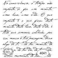 Carimbo Texto Na Convivência Ref 4041 Ta..