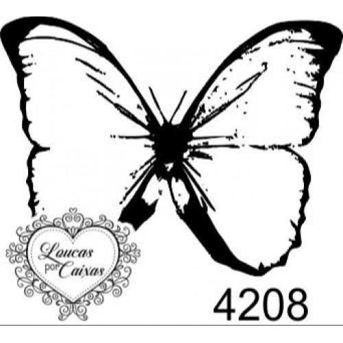 Carimbo Borboleta Ref 4208  Tam 4 X 3 Cm