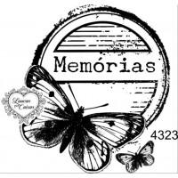 Carimbo Borboleta Memórias Ref 4323 Tama..