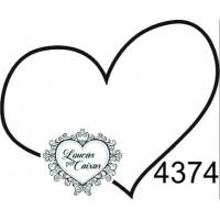 Carimbo Coração Simples..
