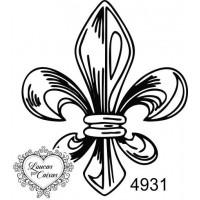 Carimbo Flor De Liz Ref 4931 - Tam 4.9 X..