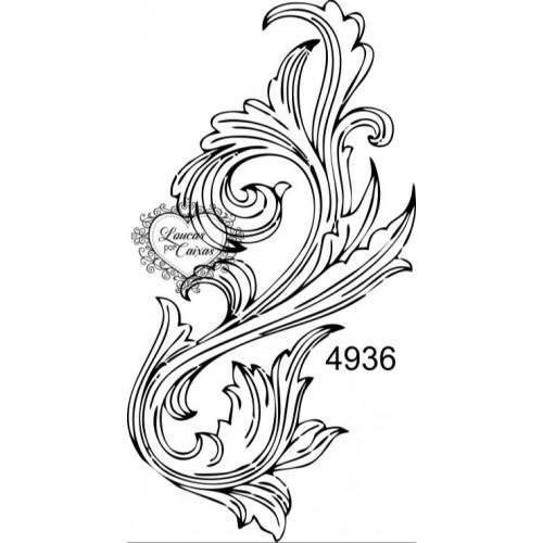 Carimbo Arabesco Ref 4936 - Tam 4.5 X 8.5 Cm