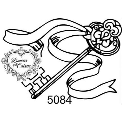 Carimbo Chave Fita Ref 5084 - Tam 5.3 X 3.6 Cm