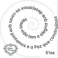 Carimbo Texto Espiral Ref 51Ex..