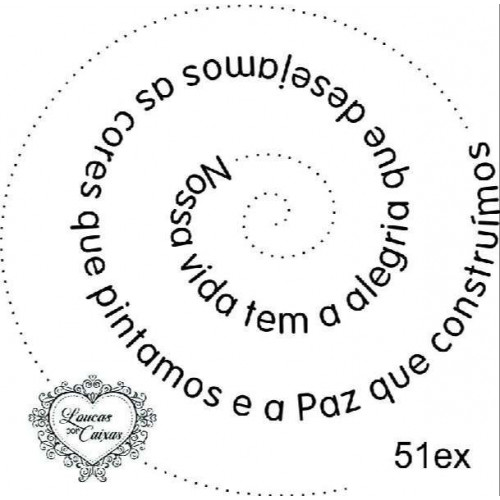 Carimbo Texto Espiral Ref 51Ex