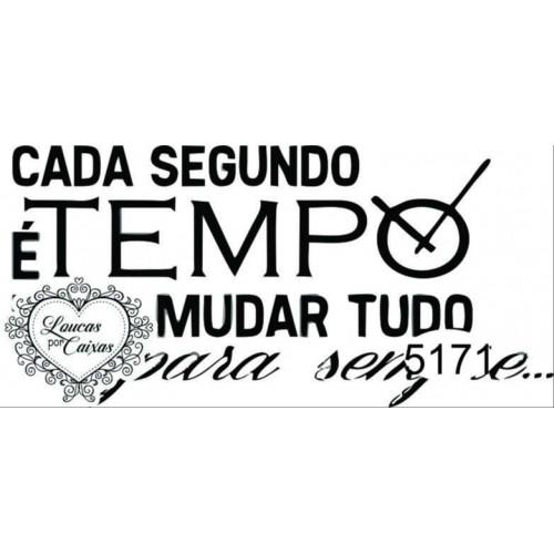 Carimbo Texto Tempo Ref 5171