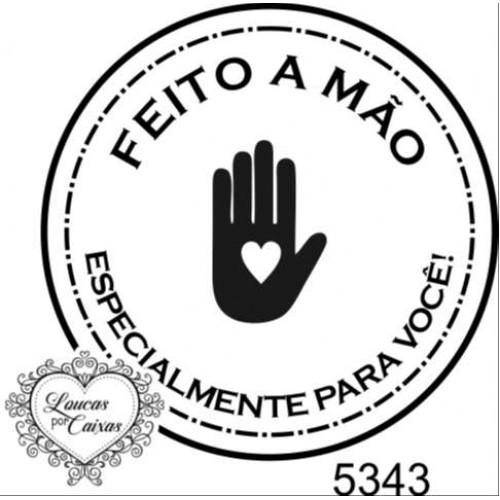 Carimbo Feito A Mão Ref 5343 - Tam 5 X 5 Cm