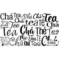 Carimbo Texto Chá Ref 5368 - Tamanho 7,9..