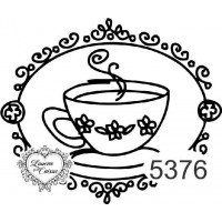 Carimbo Xícara Chá Ref 5376  Tamanho 7,2..