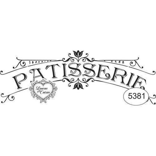 Carimbo Patisserie Ref 5381 - 9.7 X 3.7 Cm