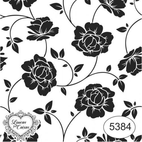 Carimbo Fundo Ref 5384 Estampa Floral Tam 7 X 7 Cm