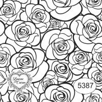 Carimbo Ref 5387 Estampa Floral Tam 7 X ..