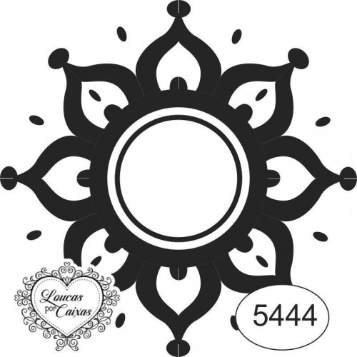 Carimbo Mandala 5444 6X6Cm