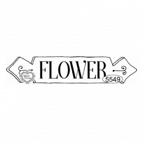 Carimbo Plaquinha Flower Ref. 5549 - 10 X 2 Cm