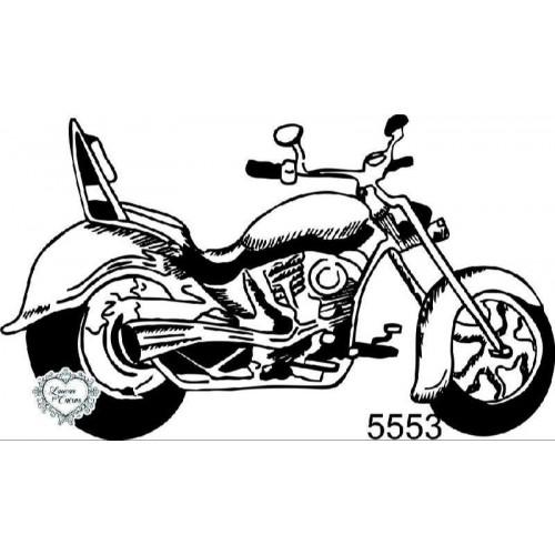 Carimbo Moto Vintage - 8 X 4,7 Cm - Ref. 5553