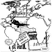 Carimbo Mapa Mundi E Selos - Ref. 5567 -..