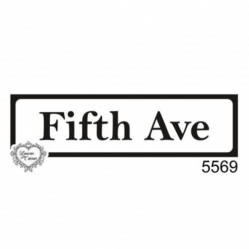 Carimbo Placa Fifth Ave - Tam. G - Ref. 5569 - 8 X 2Cm