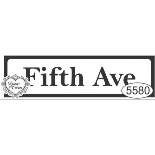 Carimbo Placa Fifth Ave - Tam. P - Ref. 5580 - 5 X 1,3 Cm
