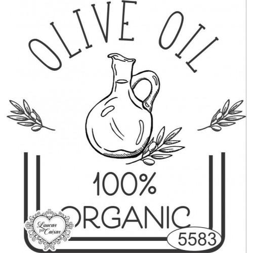 Carimbo Selo Olive Oil - Tam. P - Ref. 5583 - 7 X 6,5 Cm