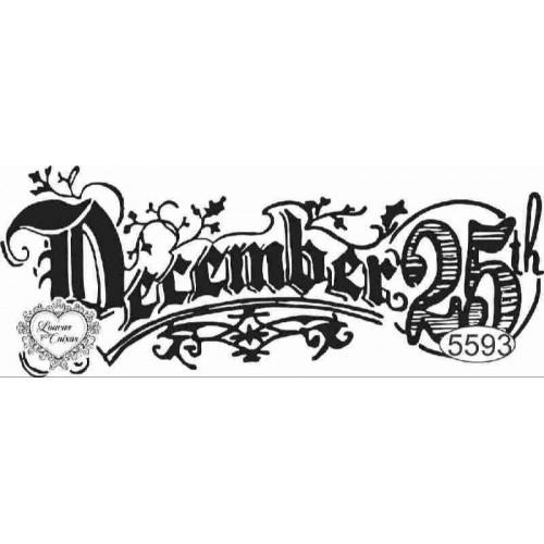Carimbo December 25 - 9 X 3,5 Cm - Ref. 5593