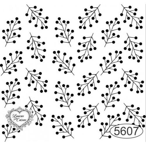 Carimbo Fundo Galhinhos Ref. 5607 - 6 X 6,5 Cm