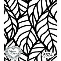 Carimbo Fundo Folhas - 6 X 7 - Ref. 5624..