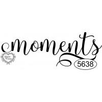 Carimbo Moments - Ref. 5638 - 6 X 2 Cm..