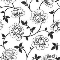 Carimbo Fundo Floral - Ref 5642 - 7 X 7 ..