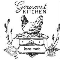 Carimbo Gourmet Kitchen - 9X9Cm - Ref. 5..