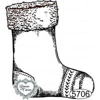 Carimbo Meia de Natal - 6x5,5cm - Ref 57..