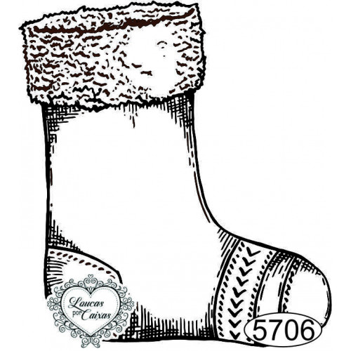 Carimbo Meia de Natal - 6x5,5cm - Ref 5706