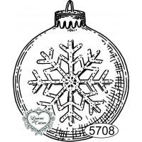 Carimbo Bola de Natal - 6x5cm - Ref. 570..