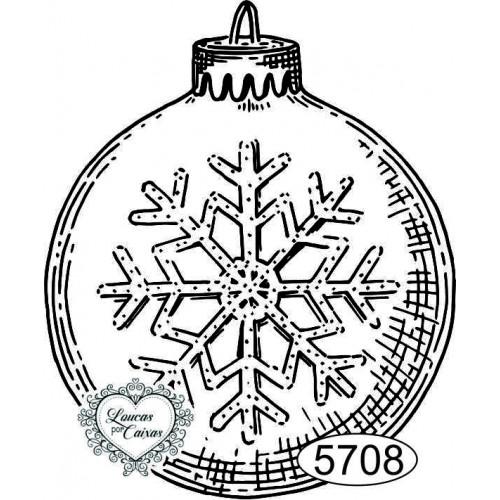 Carimbo Bola de Natal - 6x5cm - Ref. 5708