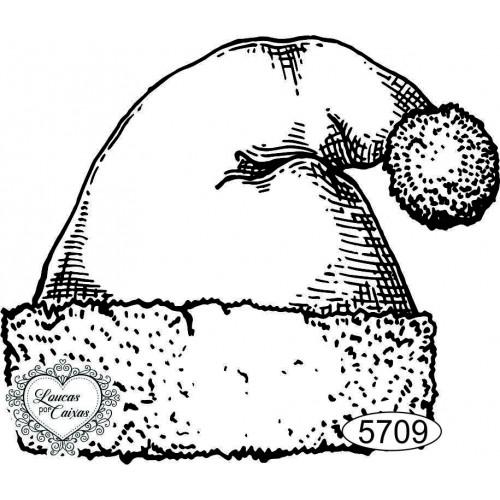 Carimbo Touca de Natal - 7,5x6,5cm - Ref. 5709