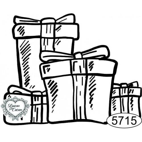 Carimbo Caixas de Presente - 6x5cm - Ref. 5715