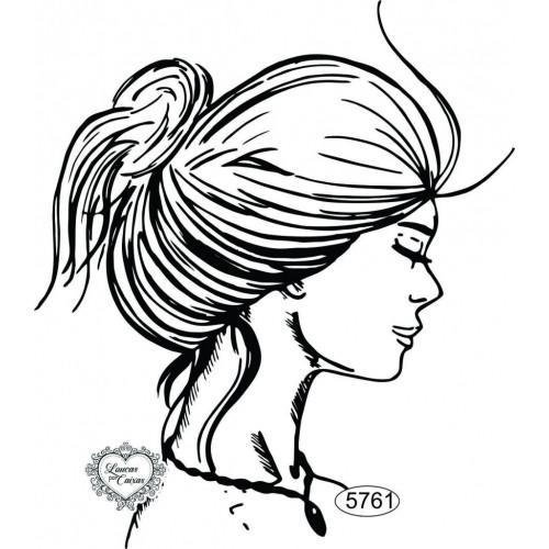 Carimbo Dama de Coque - 12x10,5cm - Ref. 5761