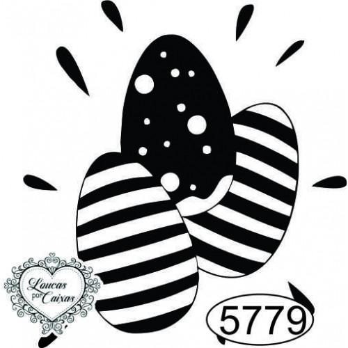 Carimbo Ovos Decorados - 4x4,5cm - Ref. 5779