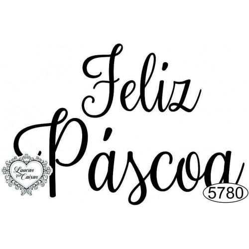 Carimbo Feliz Páscoa - 7x5cm - Ref. 5780