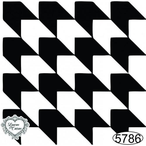 Carimbo Fundo Geométrico - 6x6cm - Ref. 5786