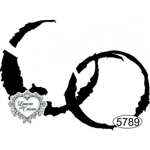 Carimbo Duas Borras de Copo - 7x5cm - Ref. 5789