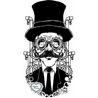 Carimbo Mister Steampunk - 11x6cm - Ref...