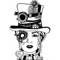 Carimbo Miss Steampunk - 11x7,5cm - Ref...