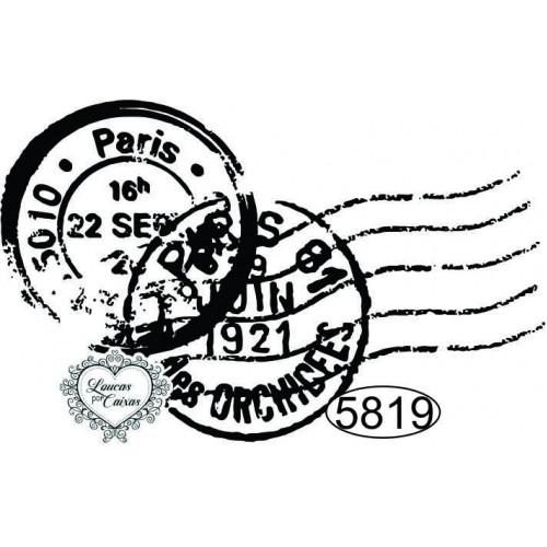 Carimbo Selos Paris - 6x3,5cm - Ref. 5819