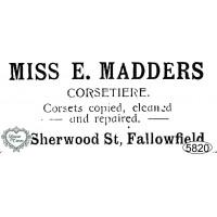 Carimbo Miss E. Madders - 10x4cm - Ref. ..