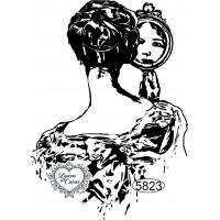 Carimbo Dama com Espelho - 9x6,5cm - Ref..
