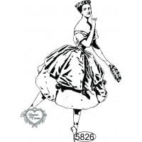 Carimbo Dama Bailarina 1 - 8x6cm - Ref. ..