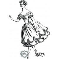 Carimbo Dama Bailarina 2 - 8x5,5cm - Ref..