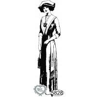 Carimbo Dama Moderna - 9x2cm - Ref. 5828..