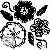 Carimbo Estampa Floral Ref 589..